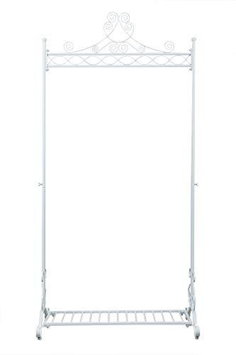 Perchero Diseño Vintage en Hierro Percha para Prendas Soporte para Colgar Ropa de Hierro (Blanco)