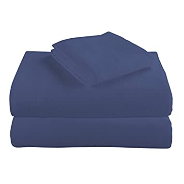 Cotton Turkish Flannel Sheets By Morgan Home Fashions - 100% Brushed Cotton for Supreme Comfort - Deep Pockets - Warm and Cozy, Great for All Seasons (Blue, Queen)