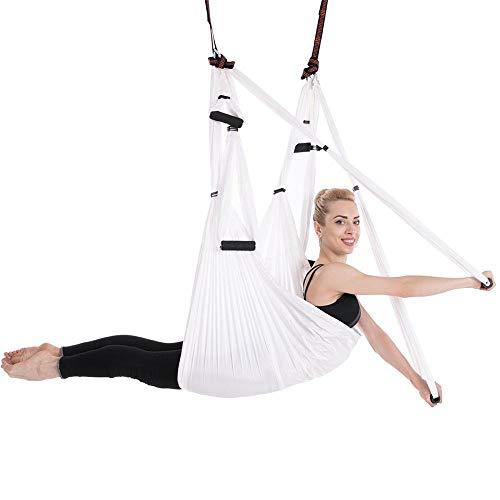 ZHAONAA Peut accueillir Plus de Personnes 15 Couleurs 6 Poignée Anti-gravité Yoga aérienne Set Hamac Sac de Transport Pratique (Color : 05 White)