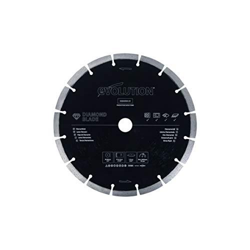 Evolution 9 Inch Diamond Blade with Segmented Edge, 1 In Bore, Concrete, Stone, Brick Cutting Diamond Blade