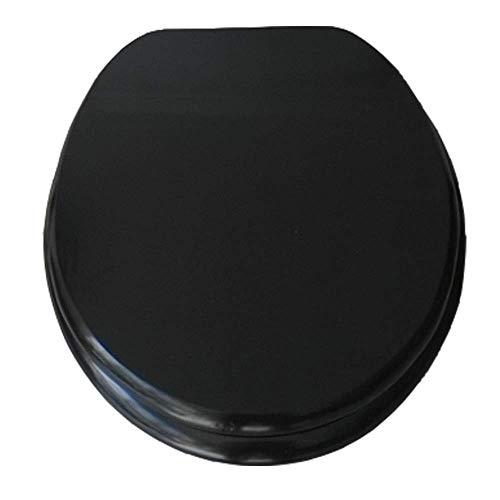 Asiento de Inodoro Negro con bisagra Ajustable de Cierre suavepara bandejas de Tapa de baño con amortiguadores (Color: # 3)