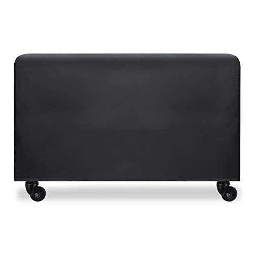 77SRF Funda para sofá de patio exterior, rectangular, fundas de muebles resistentes al agua, fundas de mesa y sillas durables, resistentes, color negro SRF (tamaño: 270 x 180 x 89 cm)