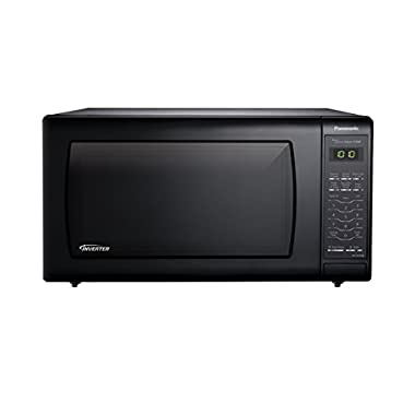 Panasonic NN-SN736B Black 1.6 Cu. Ft. Countertop Microwave Oven with Inverter Technology
