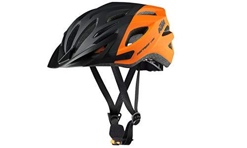 KTM Fahrradhelm Helm Factory Line Youth Schwarz-Orange Matt Gr. 51-56 für Kinder und Jugendliche inkl. Schlüsselband
