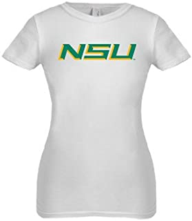 CollegeFanGear Norfolk State Next Level Girls White Fashion Fit T Shirt 'NSU'