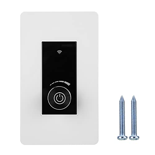 JICWNEW WiFi Smart Dimmer Interruptor 360 ° Brillo Ajustable Ligero para Google Home/Alexa