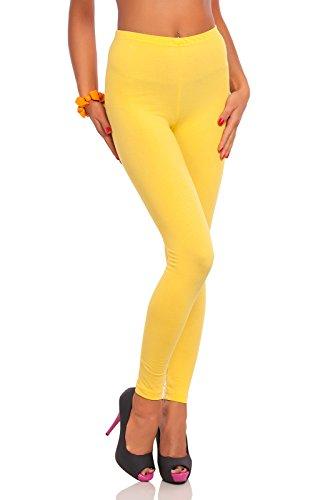 Leggings amarillos para Mujer largos - Algodón