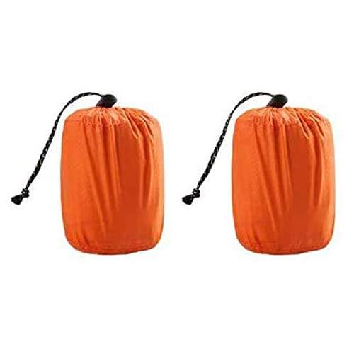 EAR PADZ Survival Sleeping Bag, Emergency Bivvy Bag Emergency Rescue Blanket Reusable PE Aluminum Film for Outdoor Camping, Hiking