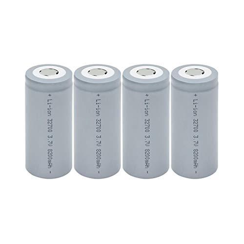 josiedf Batería Li Ion De Litio De 3.7v 8200mah 32700, Conveniente Recargable para La Herramienta EléCtrica 4Pieces
