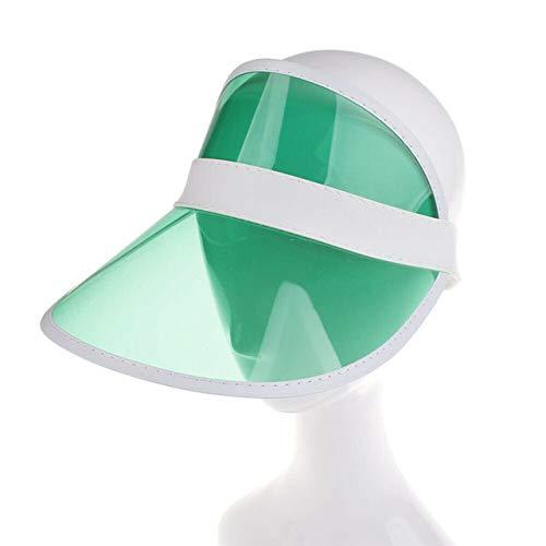 Mdsfe Nuevo Sombrero para el Sol de neón Unisex, Tenis Deportivo, Sombrero para el Sol Transparente y elástico Transparente, como se Muestra en la Foto