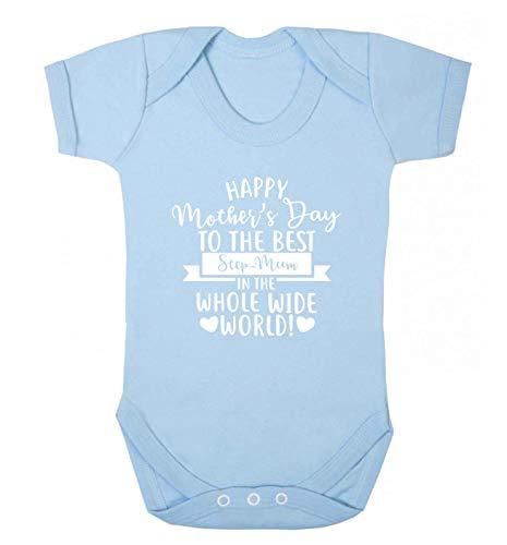 Flox Creative Baby Vest Happy Mother's Day Best Step-Mum in World Gilet pour bébé - Bleu - Nouveau né