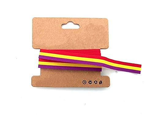 Cinta colores Bandera Republicana Republica para crear Pulsera Decoracion 1mx1cm