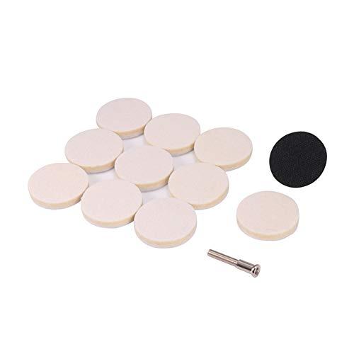 lawaiwaijie KKKKKK 11pcs 50mm Wool Felt Polishing Pad with Mandrel Grinding Buffing Wheel Polishing Wheel (Size : A)