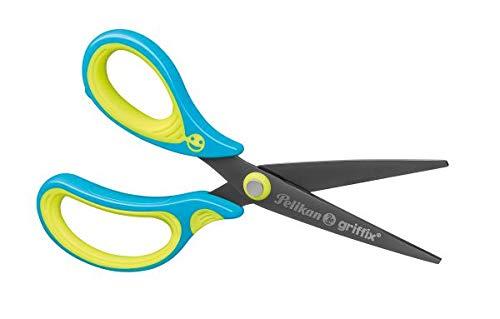 Schulschere Griffix spitz, für Linkshänder, Neon Fresh BLUE, 1 Stück