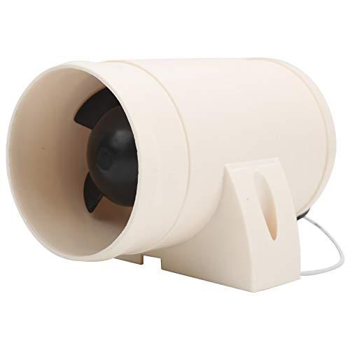 KIMISS Soplador de aire, 12 V, 3 pulgadas, en línea, ventilador de sentina marina, silencioso, fuerte, ventilador de ventilación apto para yates, barcos, vehículos recreativos