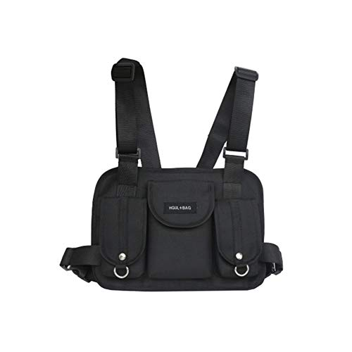 Yalatan Chest Bag, Brusttasche herren, Hip Hop Streetwear Funktionelle, Taktische Two Way Radios Harness Chest Front Pack