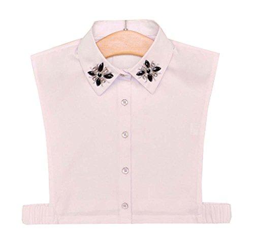 Dragon Troops Weißes Hemd Falsches Halsband Klassisches Weißes Modehemd Falsches Halsband, A13