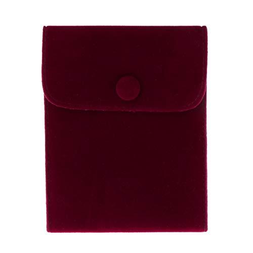 Gulang-keng Bolsa de almacenamiento portátil para joyas, pulsera de terciopelo suave y franela para pendientes, collares, anillos, pulsera