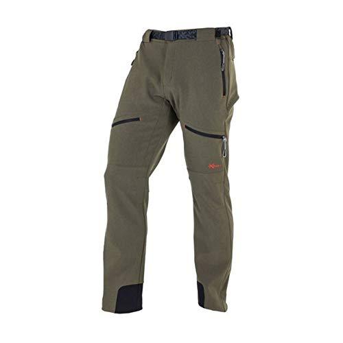 NEWWOOD - Pantalón Senderismo y Trekking 6328046 Hombre Verde Caza 50