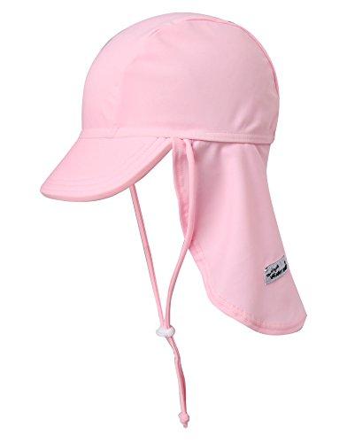 VAENAIT BABY Girls Sun Protection Sporty Flap Swim hat UV UPF 50+ Flap Cap Light Pink S