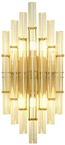 Lámpara de pared de cristal Lámpara de pared moderna Soporte de metal dorado E14 * 2 Enchufe Dormitorio Pasillo Sala de estar Aplique Luz Clásica Luz de lavado de pared de vidrio transparente