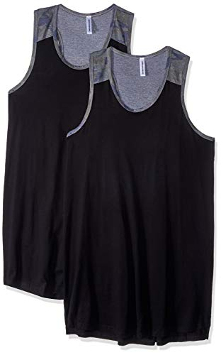 AquaGuard Women's Racerback Tank Dress-2 Pack, Black/Vint Camo, 2X-Large