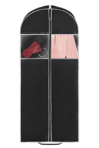 42 inch Black Garment Bag for Suits Dresses and Coats Durable Material with...