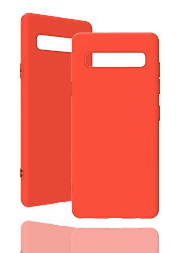 inv. Astuccio [ Adatto per Samsung Galaxy S10 Plus, in Arancio ] Custodia in Silicone Originale - Alta qualità, Lavorazione Perfetta - Semplice Custodia in...