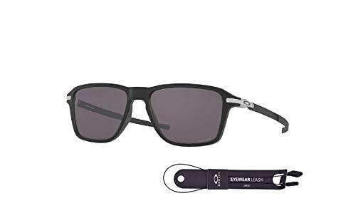 Oakley OO9469 Square Sunglasses for Men + FREE Complimentary Eyewear Kit (Satin Black/Prizm Grey, 54)