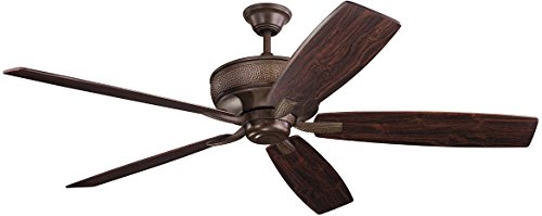 Kichler 300206TZ Monarch 70' Ceiling Fan with Wall Control, Tannery Bronze