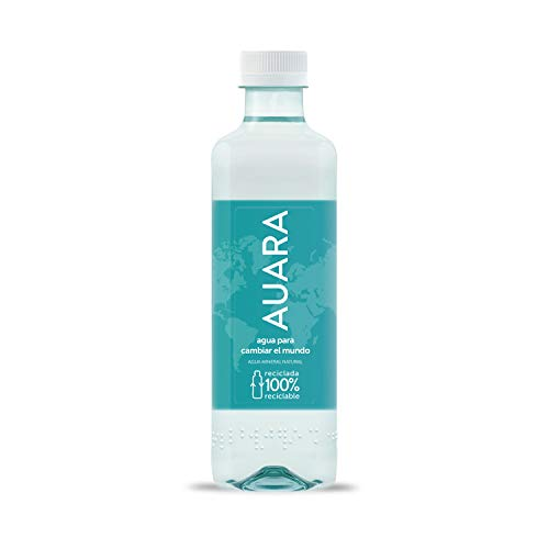 AUARA Agua Mineral Natural sin Gas - Paquete de 24 x 500 ml - Total: 12000 ml