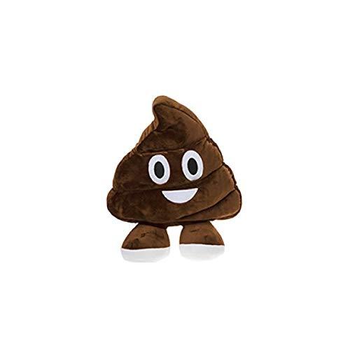 "PMS Peluche Emoji Caquita Emoticono Caca Cojín Almohada Super Suave 35 CM (14"") (470565 Marron Sonriente)"