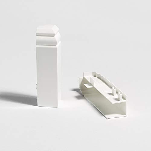 Parador Außenecken höhenvariabel für Parador Hamburger Leisten Sockelleisten - weiß - Typ 2 HL 1/2/3