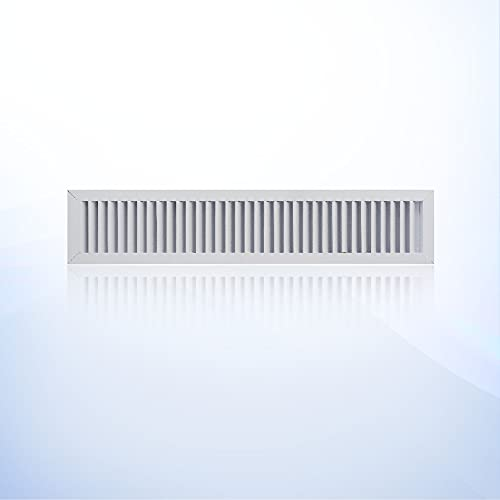 Aluminum Return Grille HVAC Outdoor Weather Proof Louver Vent,with Aluminum Screen for ac Register. White. (6' X 36')