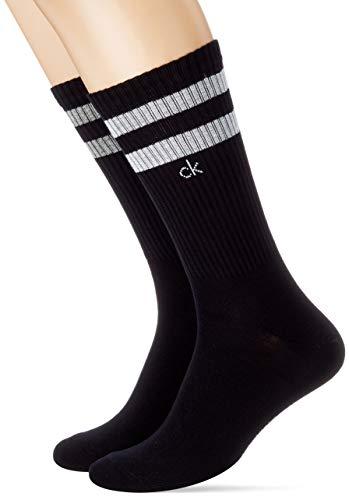 Calvin Klein Herren Crew Stripes Casual Maurice Socken, Schwarz Combo, 39/42
