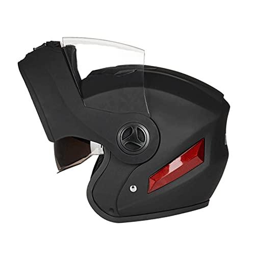 Blesiya Motorradhelme Modular hochklappbar Doppelvisiere Integralhelme Doppelte Belüftungsöffnungen Einheitsgröße - Matt-schwarz