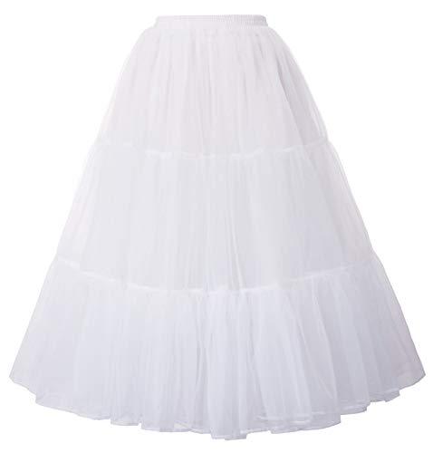 GRACE KARIN Petticoat Reifrock Unterrock Petticoat Underskirt Petticoat Reifröcke Unterrock für Rockabilly Kleid Festliches Kleid Brautkleid Weiß XXL 2512-2