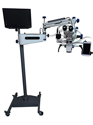 Eye Tiltable Surgical Operating Microscope 0-180 Degree 5 Step Magnification with Beam Splitter,HD Camera,LED TV Complete Set (110-240V)