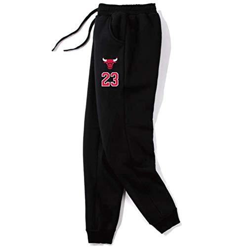 Die Bullen 23 Verteidiger Basketball Swing Hose Chicago Plus Samt Hosen Herren, Spurhose, Frauen Hosen Gleishose mit Taschenwärmer Hosen S