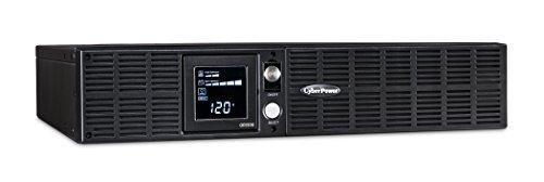 CyberPower OR1500LCDRT2U Smart App LCD UPS System, 1500VA/900W, 8 Outlets, AVR, 2U Rack/Tower