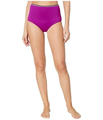 Stella McCartney Contrast Trim High-Waist Bikini Bright Purple MD