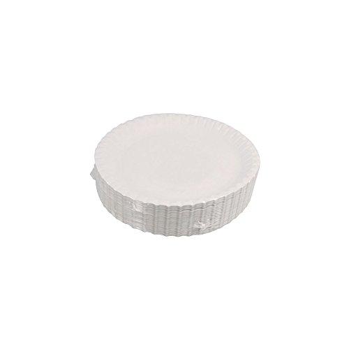 Assiette carton ø 23 cm blanc x100-100 pièces