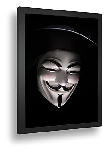Quadro Decorativo Poste V De Vingança Mascara Classica