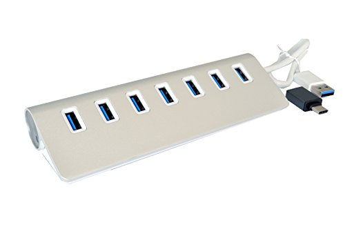 Exsys EX-1137 USB 3.0 (3.1 Gen 1) Type-A 5000Mbit/s Weiß Schnittstellenhub - Schnittstellen-Hubs (USB 3.0 (3.1 Gen 1) Type-A, USB 2.0,USB 3.0 (3.1 Gen 1) Type-A, 5000 Mbit/s, Weiß, 0,3 m, USB)