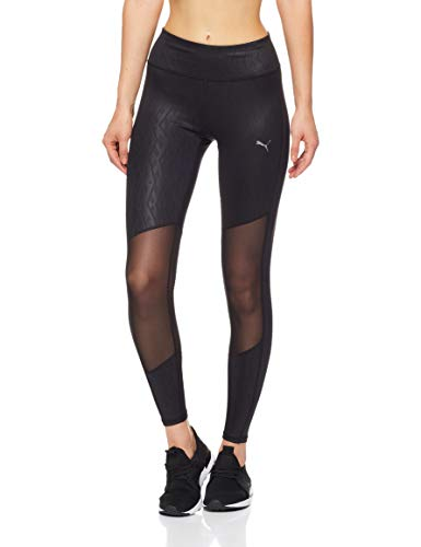 PUMA Damen Hose Always On Graphic 7/8 Tight, Puma Black-Emboss, XL, 516776