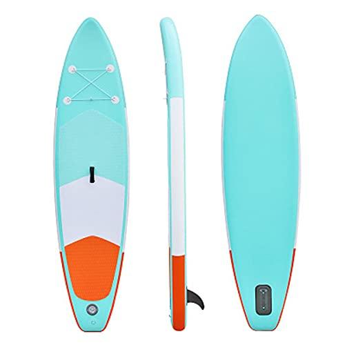 Rock88 Tabla Paddle Surf Sup Water Remo Flotable Hinchable para Adultos Stand Up Deporte Acuático Kayak Tabla de Pesca con Bomba, Aleta, Mochila, Paleta de Aluminio