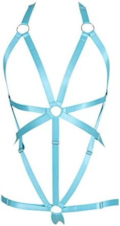 Body Harness Full for Women Garter Belts Set Strappy Adjust Gothic Punk Art Wear Elastic