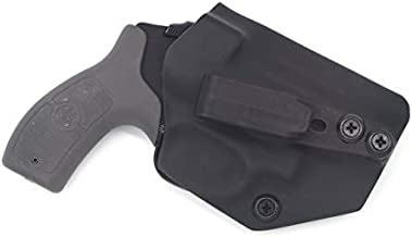 Sunsmith Holster - Compatible with Smith & Wesson M&P Bodyguard 38 Special Ambidextrous IWB Kydex Holster Inside Waistband Concealed Carry Holster Made in USA by Fast Dray USA (Black)
