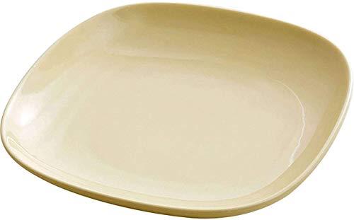 Platos de Cena Juegos de Cena Plato Cuadrado, cerámica de Estilo japonés, 8 Pulgadas Antiescaldamiento Durable Platos Platos de Cena Plato de Desayuno de Postre para Cocina Sala de Estar Comedor Ama