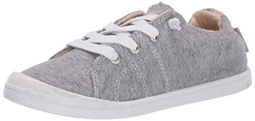 Roxy womens Bayshore Slip on Shoe Sneaker, New Grey Ash, 6.5 US